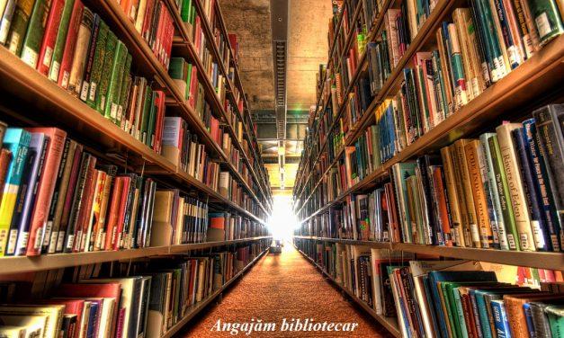 Anunț de organizare concurs pentru ocuparea postului de bibliotecar școlar